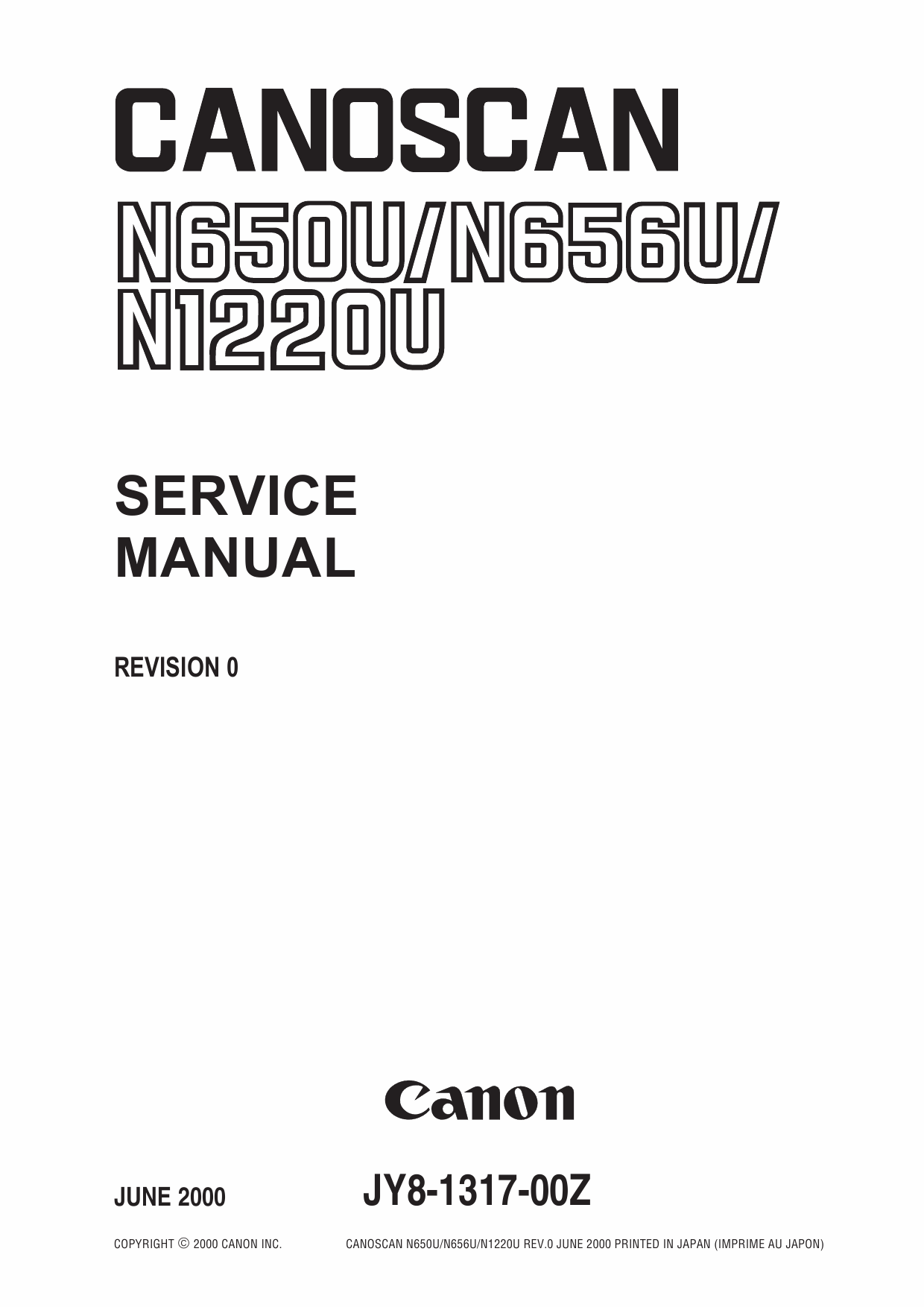 Canon Options CS-N650U CanoScan N650U N656U N1220U Parts